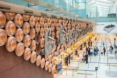 英迪拉・甘地机场 库存照片