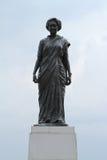 英迪拉・甘地雕象在西姆拉印度 免版税库存图片