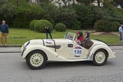 1000英里、BMW 328 (1939), FORSTER卡尔彼得和FORSTER卡尔 免版税库存照片