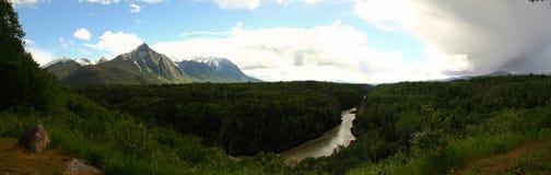 2英里峡谷, BC,西部加拿大 库存照片