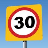 30英里每小时交通标志 库存图片