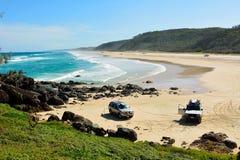 40英里海滩在伟大的桑迪国家公园在昆士兰 免版税库存照片