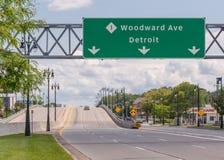 8英里路的,伍德沃德梦想巡航伍德沃德 免版税图库摄影