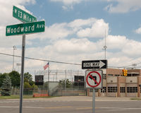 13英里路的,伍德沃德梦想巡航伍德沃德 免版税库存图片