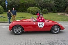 1000英里, Stanguellini 1100 Sport (1947), PALAZZANI的阿尔贝托 免版税库存图片