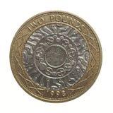 1英镑硬币- 2磅 库存照片