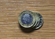 1英镑硬币 图库摄影