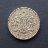 1 1英镑硬币 免版税图库摄影