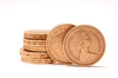 1英镑硬币 免版税库存图片