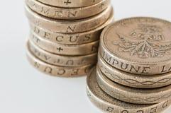 1英镑硬币 免版税图库摄影