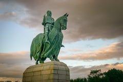 英镑,团结王国9月 18日2011年:罗伯特・布鲁斯雕象 免版税库存图片