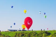 英雄传奇国际气球节日 免版税图库摄影