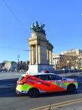 英雄方形的布达佩斯视图 免版税库存图片