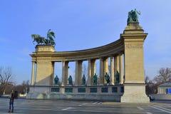 英雄方形的布达佩斯 免版税库存照片