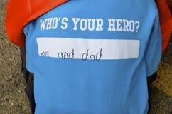 英雄是妈妈和爸爸 免版税库存图片