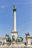 英雄正方形在布达佩斯,匈牙利 免版税库存图片