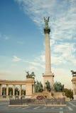 英雄正方形在布达佩斯(匈牙利) 免版税库存照片