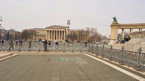 英雄正方形在布达佩斯 免版税库存图片