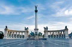 英雄正方形在布达佩斯 库存照片