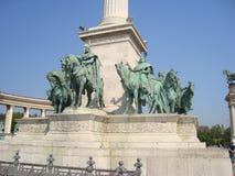 英雄正方形,布达佩斯 免版税库存照片
