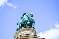 英雄正方形-布达佩斯,匈牙利 免版税库存照片