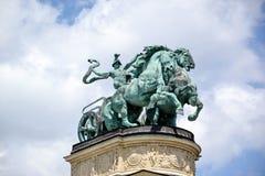 英雄正方形-布达佩斯,匈牙利 库存图片