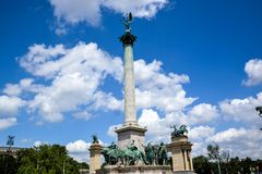 英雄正方形-布达佩斯,匈牙利 库存照片