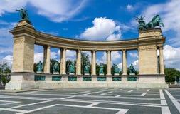 英雄的方形在布达佩斯 免版税库存图片