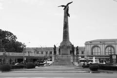 英雄纪念碑在普洛耶什蒂 库存照片