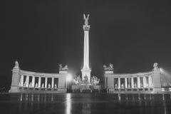 英雄`正方形在布达佩斯,匈牙利 库存照片