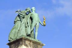 英雄`正方形在布达佩斯 库存图片