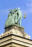 英雄`正方形在布达佩斯 免版税图库摄影