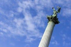 英雄`正方形在布达佩斯 免版税库存图片