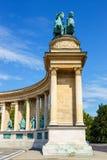 英雄`正方形在布达佩斯 免版税库存照片