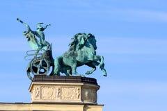 英雄`正方形,布达佩斯,匈牙利 免版税图库摄影