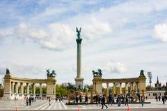 英雄` s正方形布达佩斯,匈牙利 免版税图库摄影