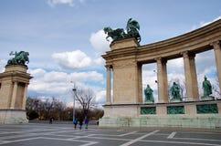 英雄s正方形在布达佩斯,匈牙利 库存图片