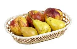 苹果、梨和葡萄开胃秋天结果实 库存图片
