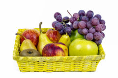 苹果、梨和葡萄开胃秋天结果实 免版税库存照片