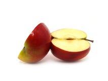 苹果一半 免版税库存照片