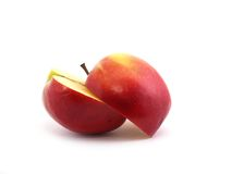 苹果一半 库存照片