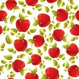 苹果仿造红色无缝 向量例证