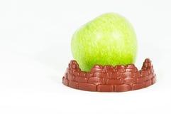 苹果保护的设防绿色 免版税图库摄影