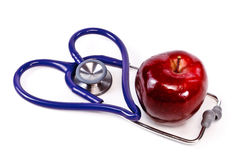 苹果健康重点 免版税库存图片