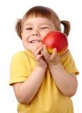 苹果儿童逗人喜爱的红色 免版税库存图片