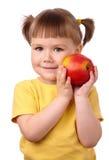 苹果儿童逗人喜爱的红色 免版税库存照片