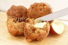 苹果全部松饼的麦子 免版税库存图片