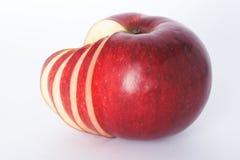 苹果切了 图库摄影