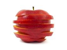 苹果切了 免版税图库摄影