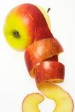 苹果剥了皮 库存图片